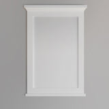 "Fresca Windsor 24"" Matte White Bathroom Mirror 