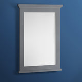 "Fresca Windsor 27"" Gray Textured Bathroom Mirror 