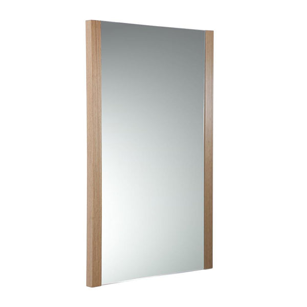 "Fresca Torino 21"" Light Oak Mirror"