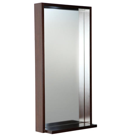 "Fresca Allier 16"" Wenge Mirror with Shelf"