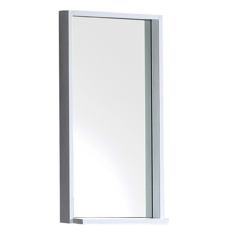 "Fresca Allier 16"" white Mirror with Shelf"