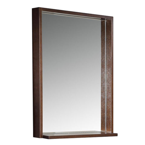 "Fresca Allier 22"" Wenge Mirror with Shelf"