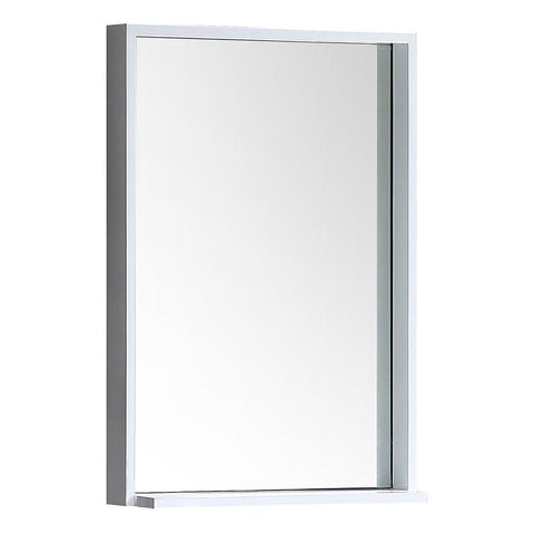 "Fresca Allier 22"" white Mirror with Shelf"