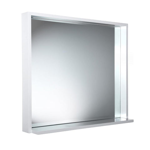 "Fresca Allier 30"" white Mirror with Shelf"