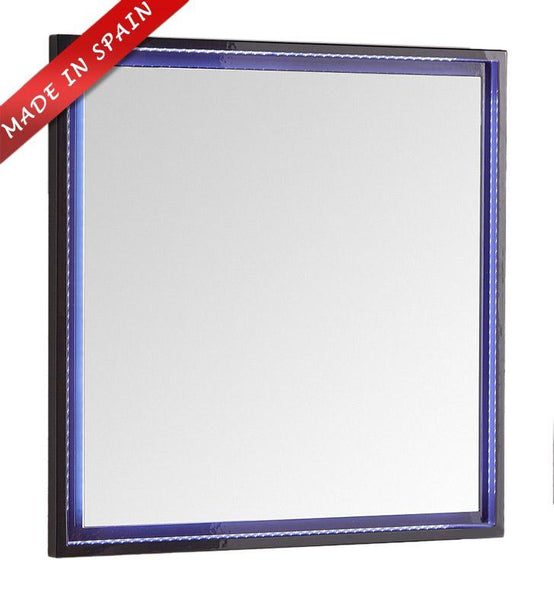 "Fresca Platinum Due 32"" Glossy Cobalt Bathroom LED Mirror"