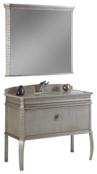 "Fresca Platinum London 40"" Antique Silver Bathroom Vanity"