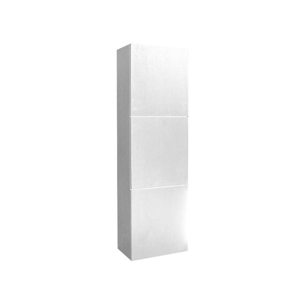 Fresca White Bathroom Linen Side Cabinet w/ 3 Large Storage Areas