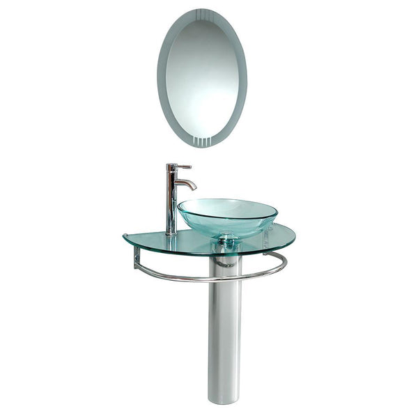 "Fresca Attrazione 30"" Modern Glass Bathroom Vanity"