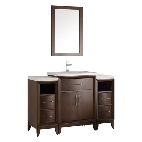 "Fresca Cambridge 48"" Traditional Bathroom Vanity w/ Mirror"