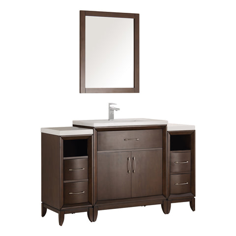 "Fresca Cambridge 54"" Traditional Bathroom Vanity w/ Mirror"