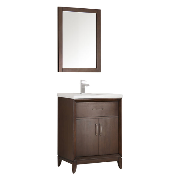 "Fresca Cambridge 24"" Traditional Bathroom Vanity w/ Mirror"