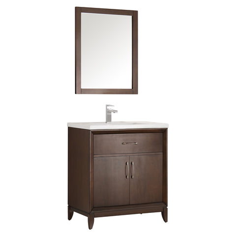 "Fresca Cambridge 30"" Traditional Bathroom Vanity w/ Mirror"