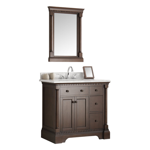 "Fresca Kingston 37"" Traditional Bathroom Vanity w/ Mirror"