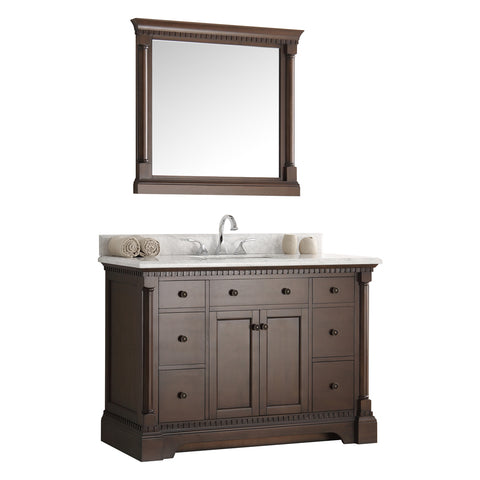 "Fresca Kingston 49"" Traditional Bathroom Vanity w/ Mirror"