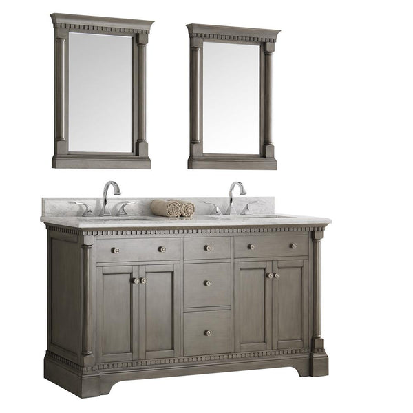 "Fresca Kingston 61"" Double Sink Vanity"