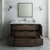 "Fresca Formosa 60"" Floor Standing Single Sink Modern Bathroom Vanity w/ Mirror 