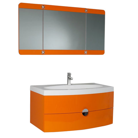 "Fresca Energia 36"" Bathroom Vanity w/ Folding Mirror"
