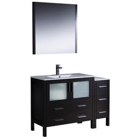 "Fresca Torino 48"" Modern Bathroom Vanity w/ Side Cabinet & Integrated Sink"