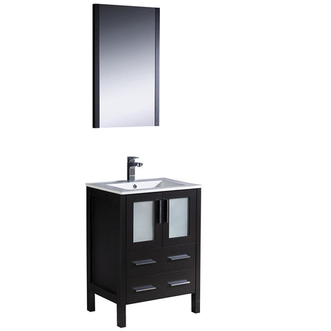 "Fresca Torino 24"" Modern Bathroom Vanity w/ Integrated Sink"