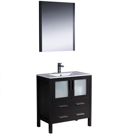 "Fresca Torino 30"" Modern Bathroom Vanity w/ Integrated Sink"