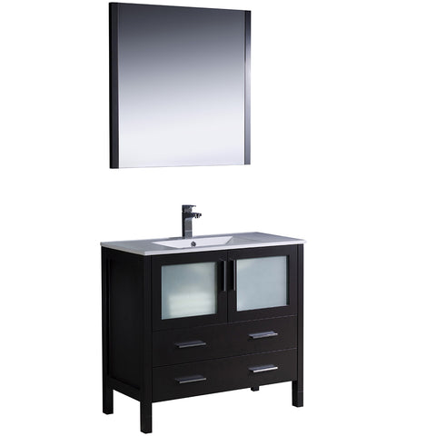 "Fresca Torino 36"" Modern Bathroom Vanity w/ Integrated Sink"
