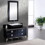 "Fresca Moselle 47"" Modern Glass Bathroom Vanity"