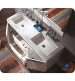 "Fresca Opulento 54"" Double Sink Bathroom Vanity"