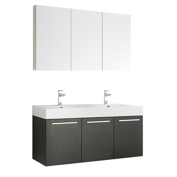 "Fresca Vista 60"" Wall Hung Double Sink Vanity"
