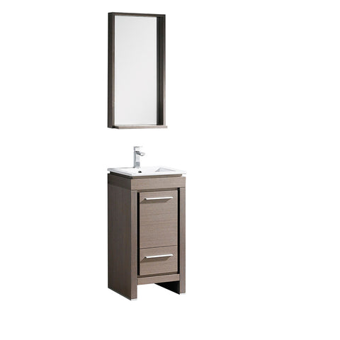 "Fresca Allier 16"" Modern Bathroom Vanity w/ Mirror"