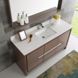 "Fresca Allier 60"" Modern Single Sink Bathroom Vanity w/ Mirror"