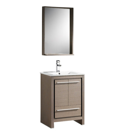 "Fresca Allier 24"" Modern Bathroom Vanity w/ Mirror"