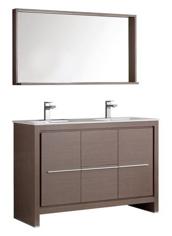 "Fresca Allier 48"" Modern Double Sink Vanity"