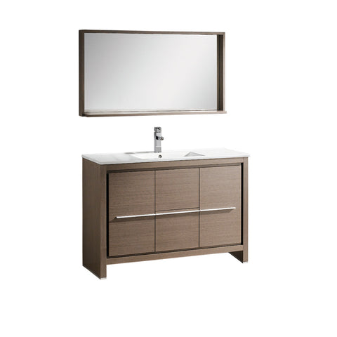 "Fresca Allier 48"" Modern Bathroom Vanity w/ Mirror"