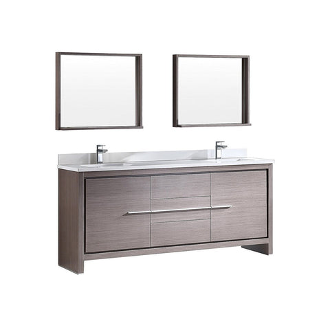 "Fresca Allier 72"" Modern Double Sink Vanity"