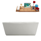 "59"" Streamline Soaking Freestanding Tub With Internal Drain"