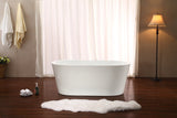 "Streamline 58"" Soaking Freestanding Tub With Internal Drain"