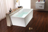 "Streamline 67"" Soaking Freestanding Tub With Internal Drain"