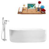 "Streamline Faucet and Tub Set 67"" Freestanding"