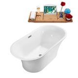 "Streamline 67"" Soaking Freestanding Tub w/ Internal Drain 