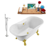 "Streamline 68"" Clawfoot Faucet and Tub Set"