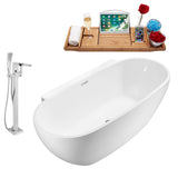 "Streamline 69"" Freestanding Faucet and Tub Set 
