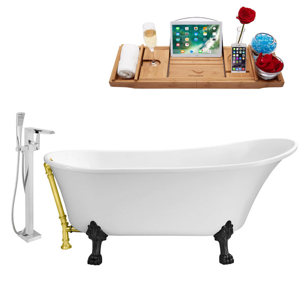 "Streamline Faucet and Tub Set 59"" Clawfoot"