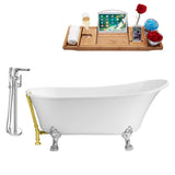"Streamline 63"" Clawfoot Faucet and Tub Set"