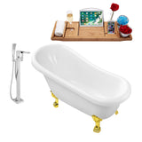 "Streamline Clawfoot 61"" Faucet and Tub Set"