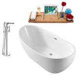 "Streamline Freestanding 62"" Faucet and Tub Set"