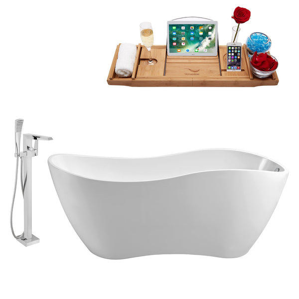 "Streamline 63"" Freestanding Faucet and Tub Set 