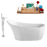 "Streamline 67"" Freestanding Faucet and Tub Set 