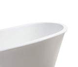 "Streamline 67"" Cast Iron Soaking Freestanding Tub 