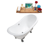 "Streamline 61"" Soaking Clawfoot Tub w/ External Drain"