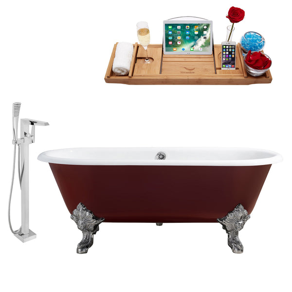 "69"" Streamline Faucet and Cast Iron Tub Set"